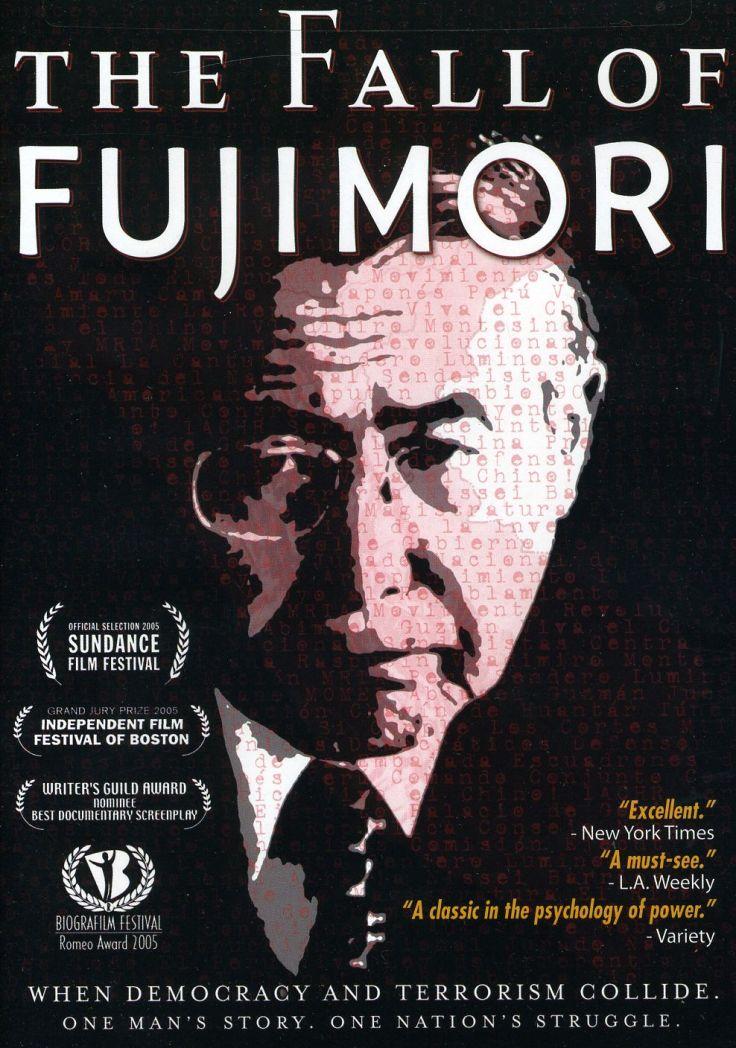 Cartel de la película Fall of Fujimori, presentda en el Film Forum de Manhattan