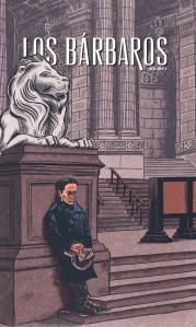 Portada Los Bárbaros 4/ César Vallejo frente a la New York Public Library