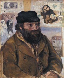 Portrait of Cezanne by Pisarro at the London National Gallery